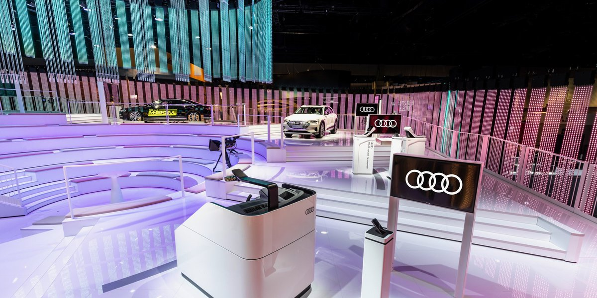 """""""Backseat driver"""" takes on a whole new meaning.   See how we've transformed the car into a mobile amusement park at #CES: http://audi.us/2sg2ChR"""
