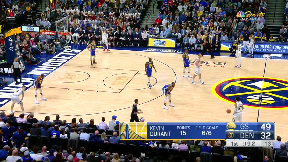 RT @warriors: No Dubs team has ever made 10 threes in a quarter -- until now.  No. 10, courtesy of @KDTrey5 👌 https://t.co/5o0ToSxqr8