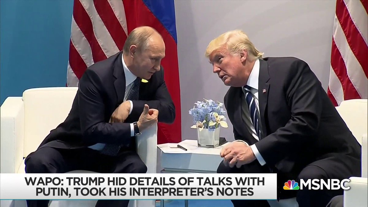 Russia now knows that whatever happened in that Putin-Trump meeting is something Trump is desperate to keep from the view of the American public and even his own aides. #BlackmailInABottle