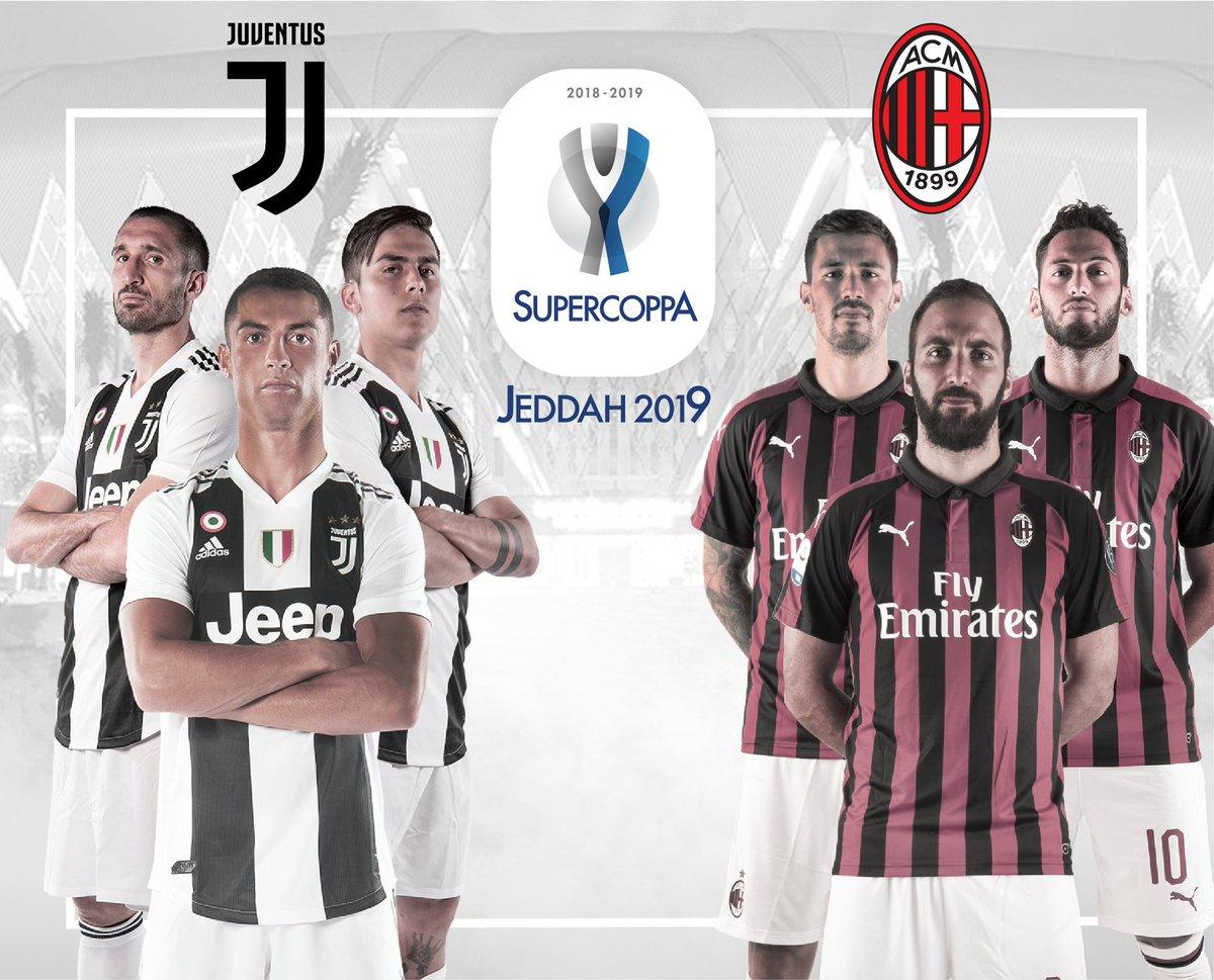 Já chegou o dia mais esperado. O dia em que a Juventus de CR7 e Cancelo vai dar tudo nesta Supertaça de Itália para bater o Milan em Jeddah. #JuveMilan #SupercoppaItaliana #CR7Juve