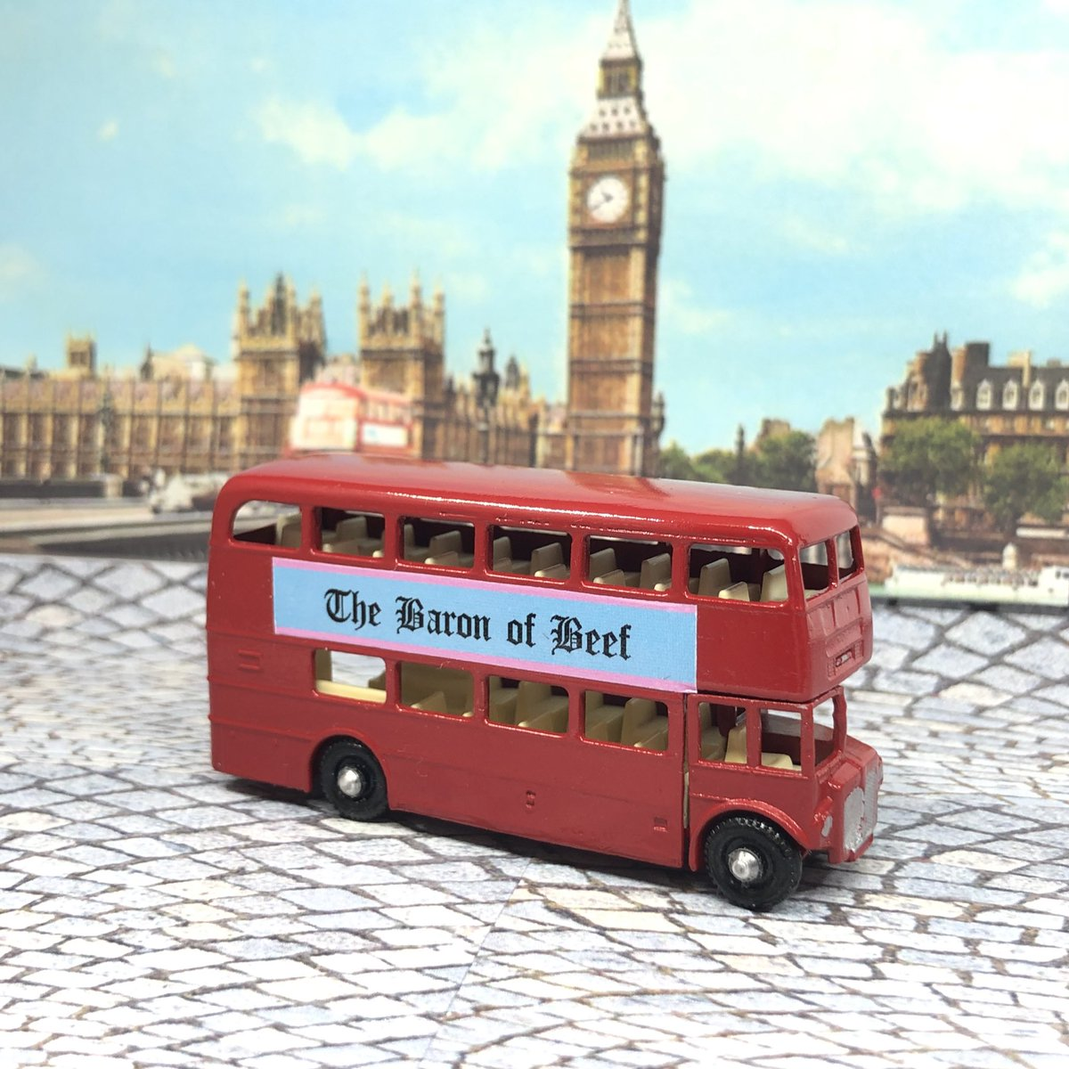 """The Rootmaster has been exhumed and shall now be known as the """"Routemaster"""". #lesney #matchbox  No. 5D #diecastrestoration"""