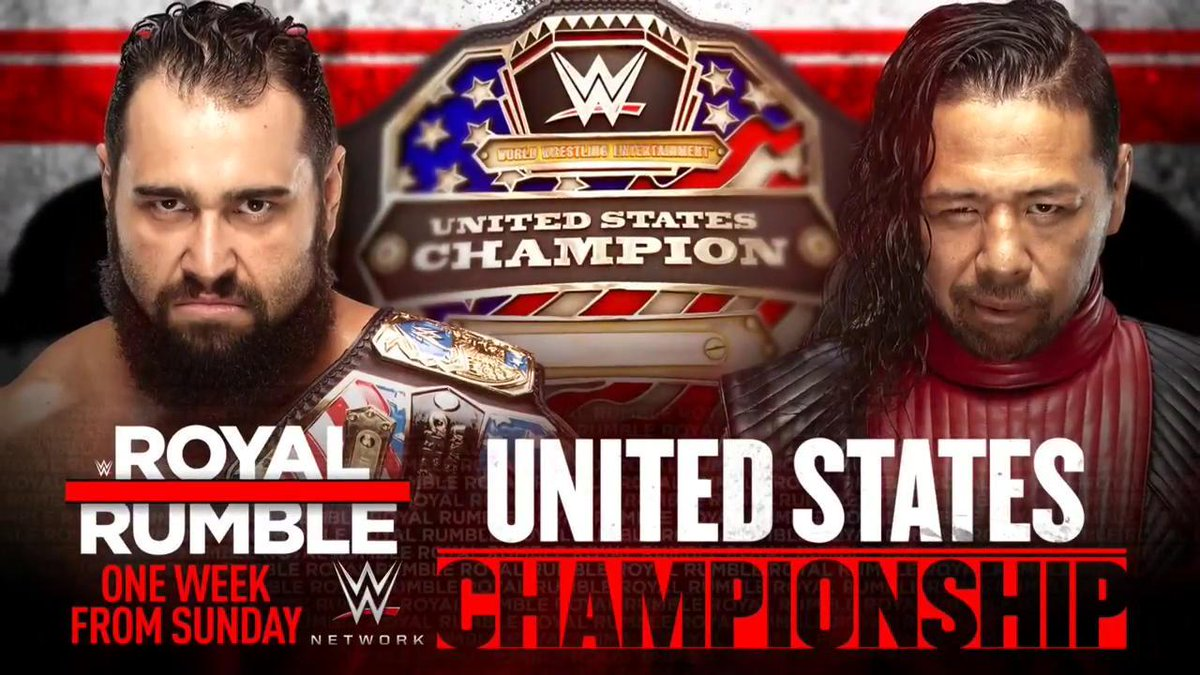 WWE Announces New Title Match For The Royal Rumble PPV