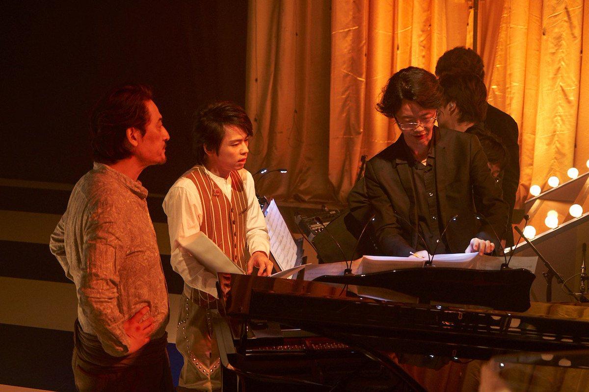 グリブラ 歌収録時のオフショット 収録時はお稽古中だったこともあり 中川晃教 さん 橋本さとし さん