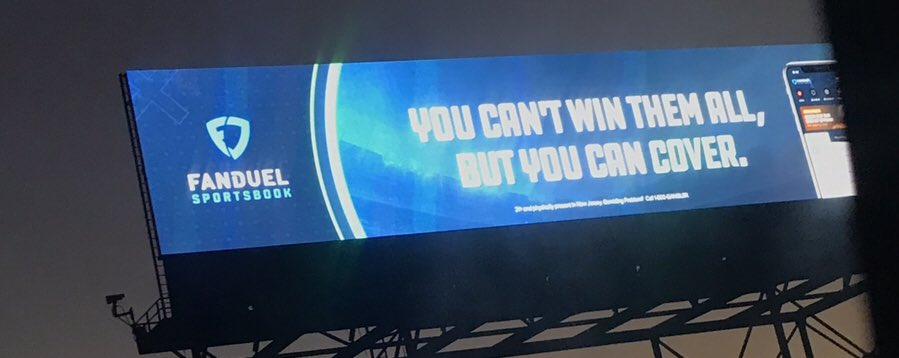 New York Gov. Andrew Cuomo expressed his hope today that New York will bring sports betting to the state in 2019. For now, New Jersey is taking a piece of that pie. First sign out of the Lincoln Tunnel from New York to New Jersey is a rotating sign that includes FanDuel.