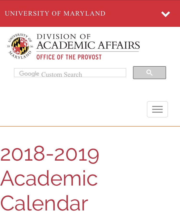 University Of Maryland Academic Calendar >> Philip N Cohen On Twitter Fyi For Your Semester Planning