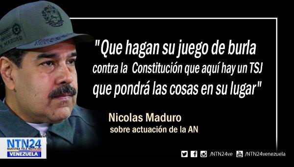 Maduro amenaza con el TSJ a quienes 'juegan y se burlan de la Constitución' https://t.co/SrFIFcBbYR https://t.co/pNzFGsqZ38