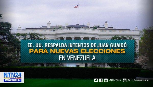 EE. UU. respalda intentos de Juan Guaidó para nuevas elecciones en Venezuela https://t.co/CTTte3jDPd https://t.co/aQVVAtfKaN