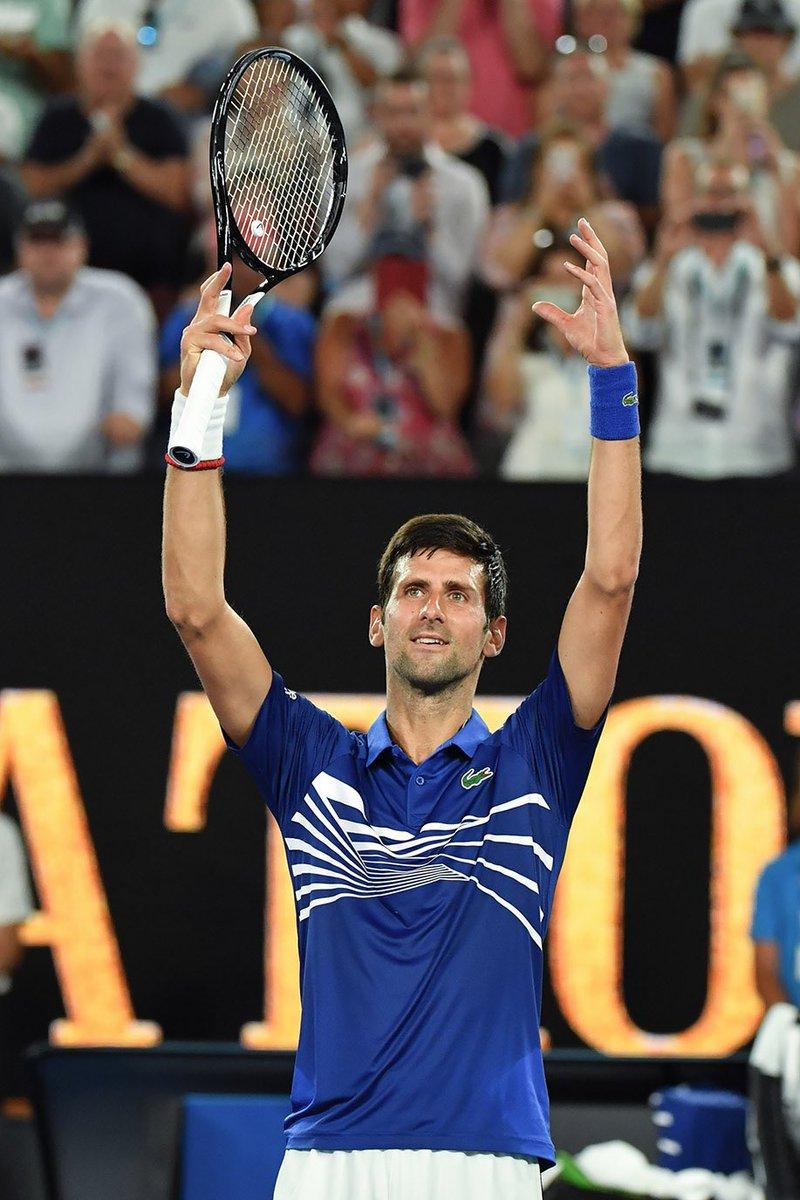Novak Djokovic (@DjokerNole) on Twitter photo 15/01/2019 22:35:32