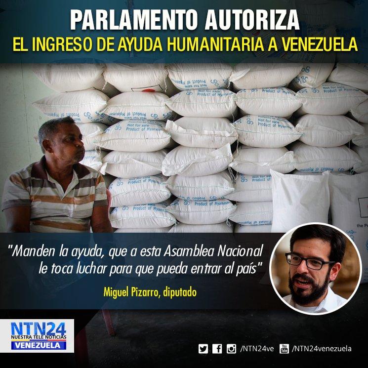 Parlamento autoriza el ingreso de ayuda humanitaria a Venezuela https://t.co/GVGqnYjRXc https://t.co/j9rPJeGCRh