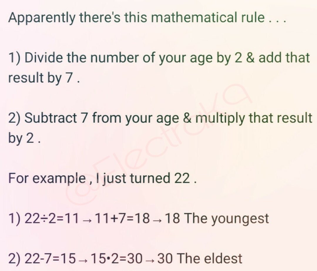 There's a chart!!!!! So for me it would be youngest is 21 and oldest is 40.....  I can live with that