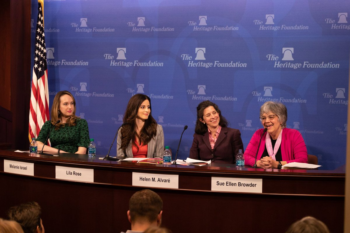 Thank you to everyone who came out to our event today at @Heritage with Sue Ellen Browder, Dr. Helen Alvare & @LilaGraceRose!   Learn how a worthy cause was hijacked by the sexual revolution and pro-abortion activists. https://subverted.liveaction.org/