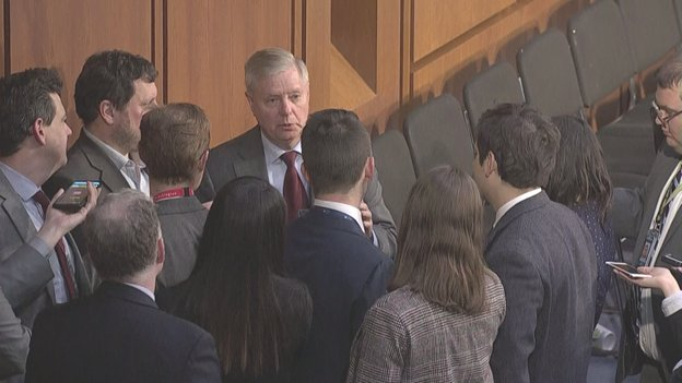 'We're not gonna get results with the Government shut down,' says @LindseyGrahamSC. He says a 3 week funding bill to reopen the Government 'would produce results.' Says he told @POTUS that might produce a breakthrough. If not, he can use his executive power.