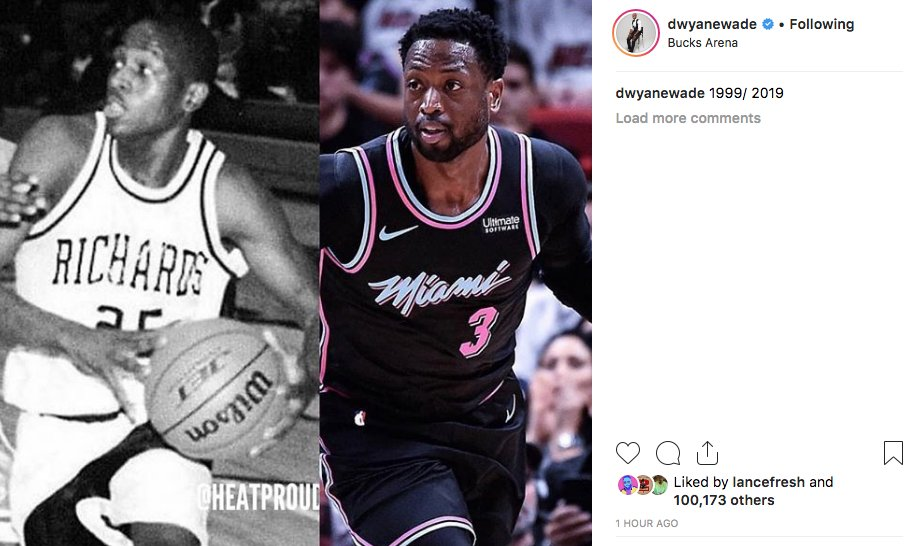 .@DwyaneWade showing everybody up with the 20 year challenge