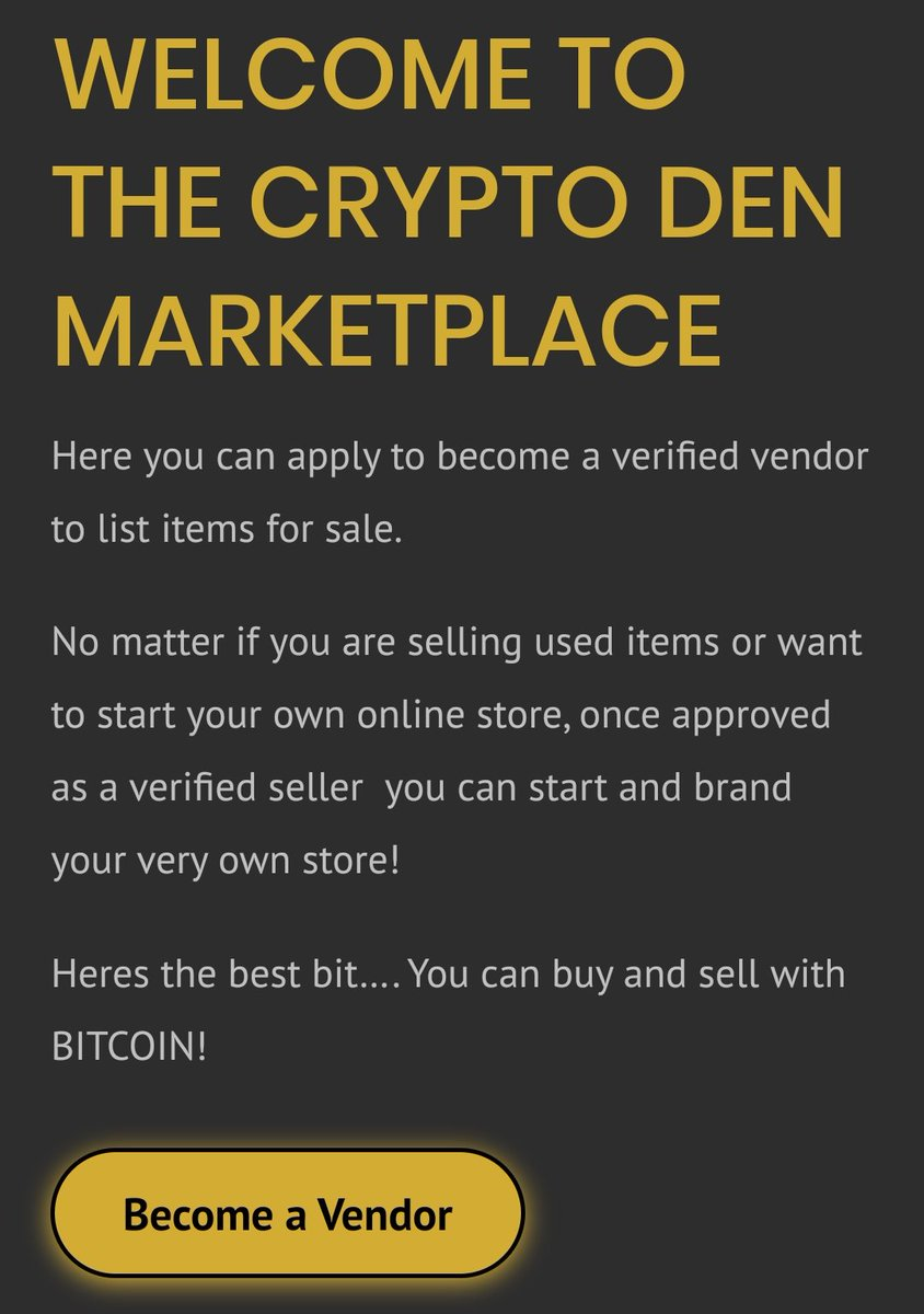 sell your stuff for cryptocurrency