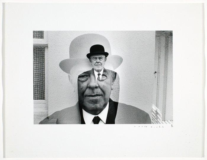 🎩 Ce ne sont pas une photo. 🎩 #NationalHatDay 📷Duane Michals, [René Magritte in bowler hat, multiple exposure],1965 #ICPCollections https://bit.ly/2suRDRO