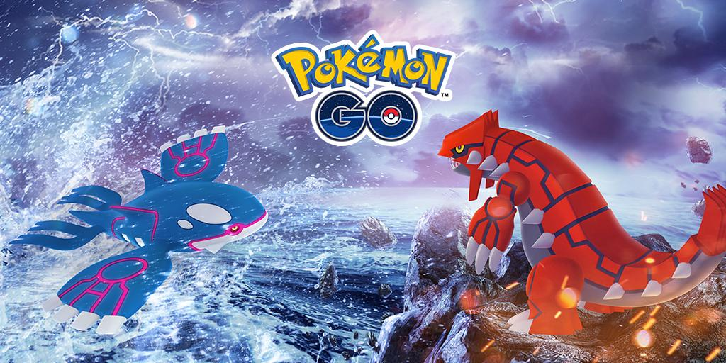The Hoenn celebration continues as the Legendary Pokémon Kyogre and Groudon have started to appear in Legendary Raid Battles! Are you #TeamKyogre or #TeamGroudon?<br>http://pic.twitter.com/zPHoNujiE0