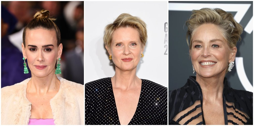 Sarah Paulson, Cynthia Nixon and Sharon Stone are delivering the *drama* on Ryan Murphy's new show https://t.co/ohaMgnZSW7