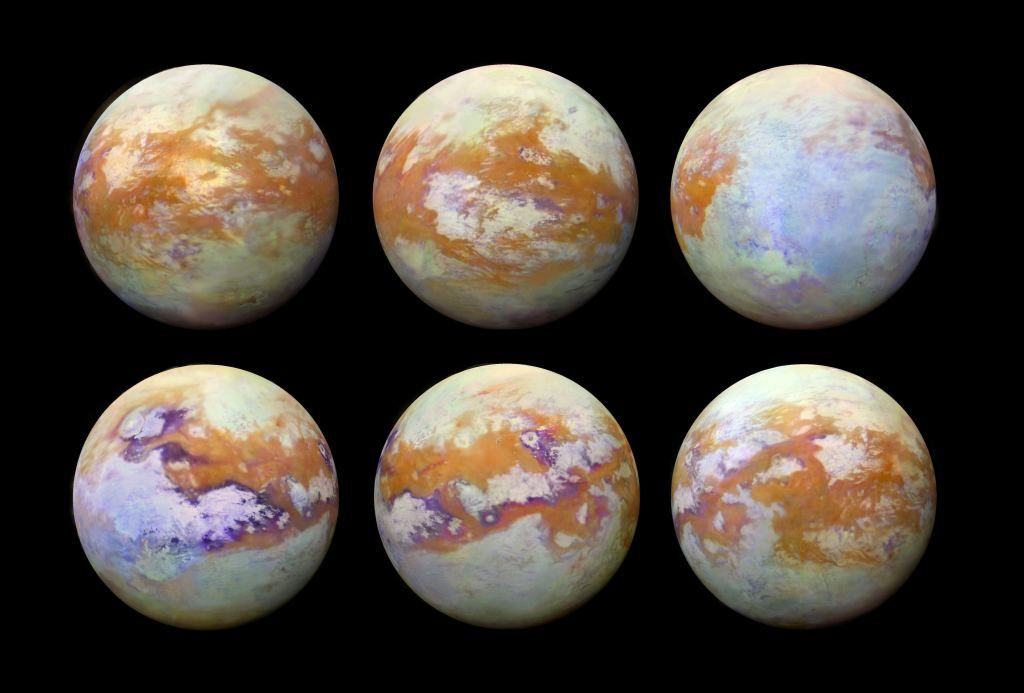 Titan's Thick Clouds Obscure our View, but Cassini Took these Images in Infrared, Showing the Moon's Surface Features - Universe Today https://t.co/ih2BBQVCCG