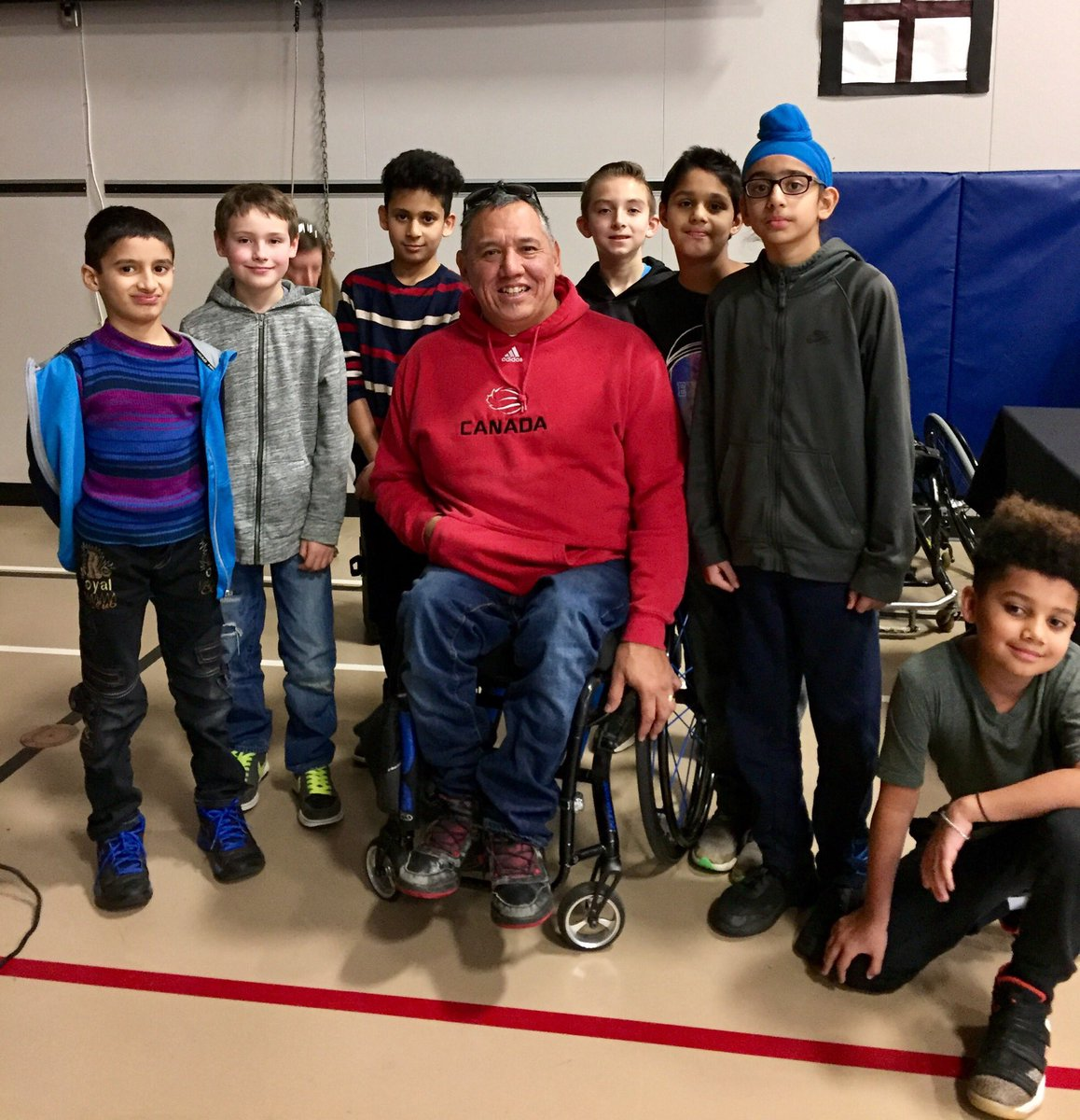 Lucky us!  A visit from Paralympic Basketball Gold medalist Richard Peter! Amazing to hear his story! @BCSportsHall #heroinyou  #sd36learn<br>http://pic.twitter.com/qxRFUKmDlQ