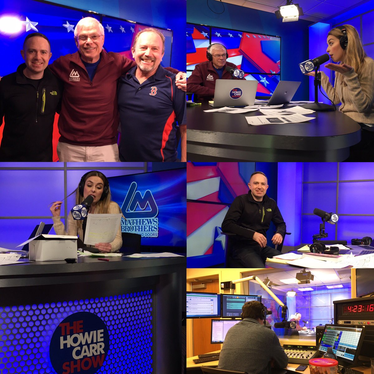 Had a great day in studio at the @HowieCarrShow! @G_CURLEY @BigSteve207 #MAGA
