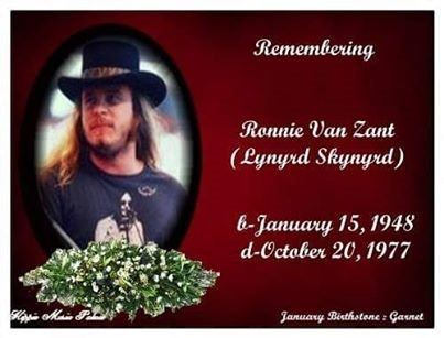 Remembering one of the greatest ever! Happy birthday to you Ronnie Van Zant!