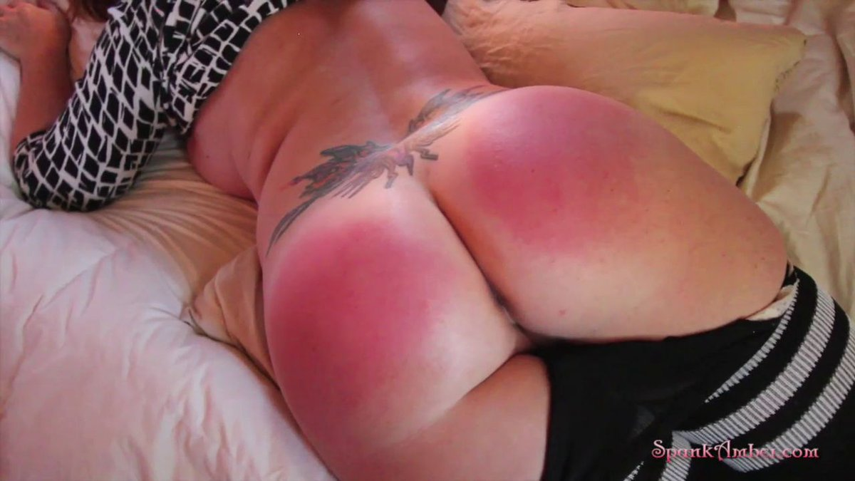Oiled butt whipping