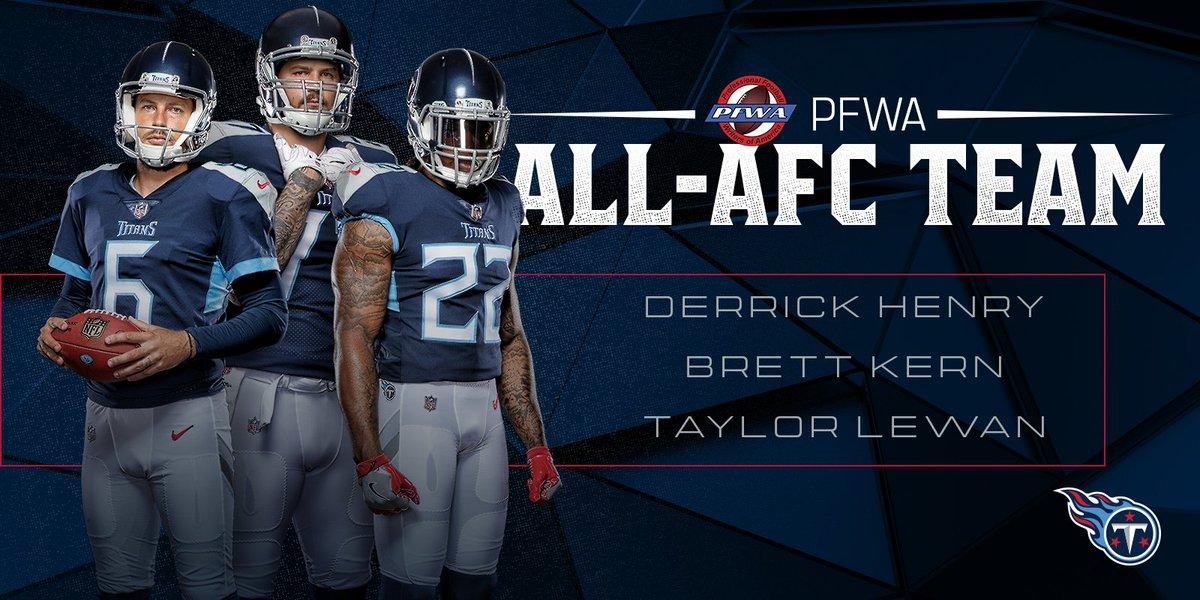 Three Titans named to @PFWAwriters 2018 All-AFC Team 2018 All-AFC Team 📰 » titanup.co/0naUzI