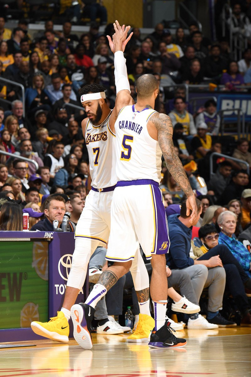 Lineup changes coming for the Lakers 👀  Los Angeles will start KCP and Tyson Chandler tonight instead of Josh Hart and JaVale, per @ShamsCharania