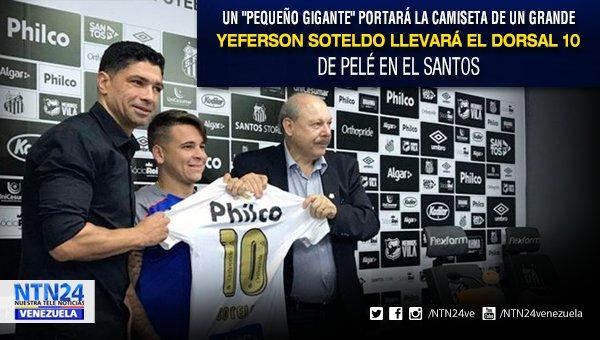 Yeferson Soteldo llevará el mítico dorsal 10 de Pelé en el Santos https://t.co/YwpHZpwX25 https://t.co/Jy0K23bgPh