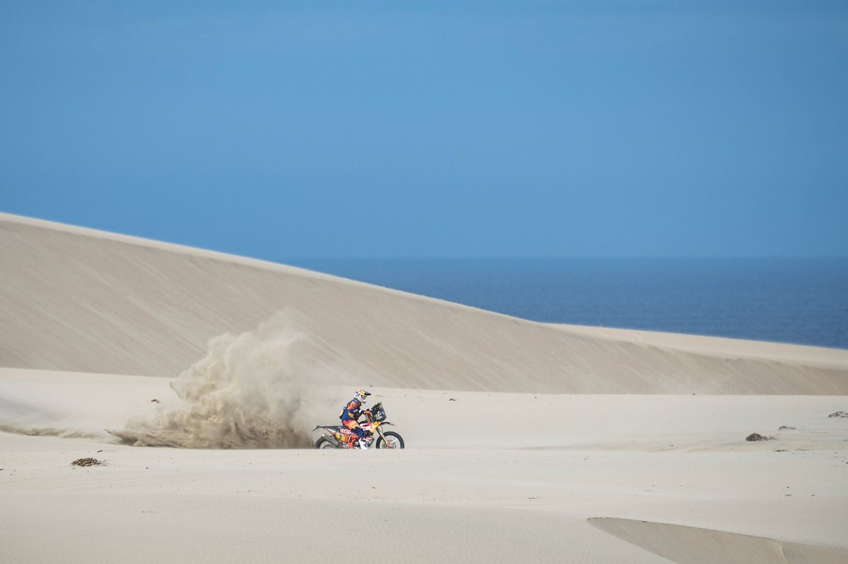 With 8 gruelling stages down and 2 to go, @tobyprice87 is currently in the #RallyDakar lead   Watch Dakar Daily to see how the final stages go down   http:// redbull.com/Dakar  &nbsp;     : Marcelo Maragni<br>http://pic.twitter.com/R7G9wiiNsn