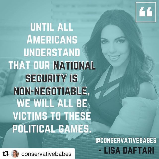 """Thank you for the feature, Elisa! 💗@conservativebabes """"Immigration and border security are not partisan issues. It is the job of our government to keep us safe, and until all Americans understand that our national security is non-negotiable, we will … https://t.co/TwuUMNY8Lq"""