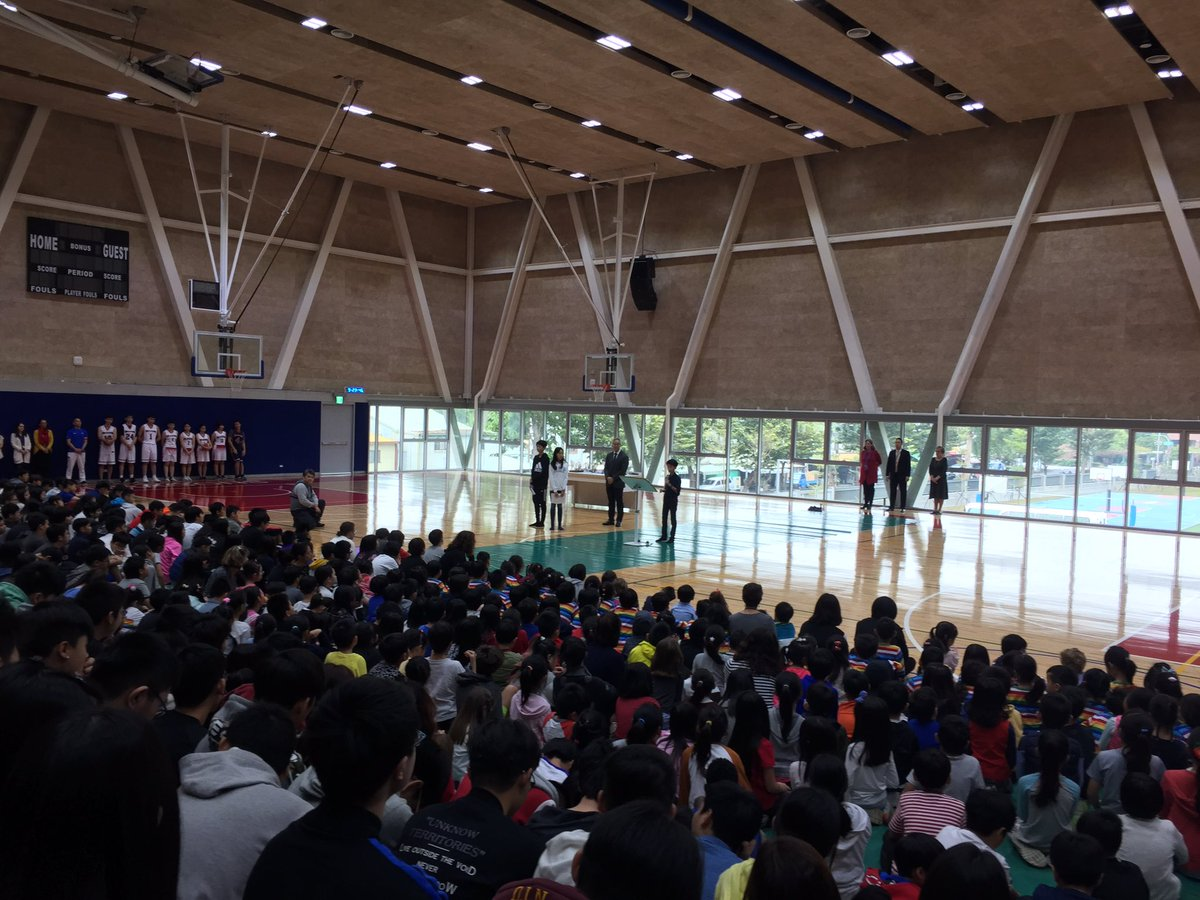 Dragon Pride #KAStw whole-school assembly: sportsmanship, caring and giving, and community! @KaohsiungAS