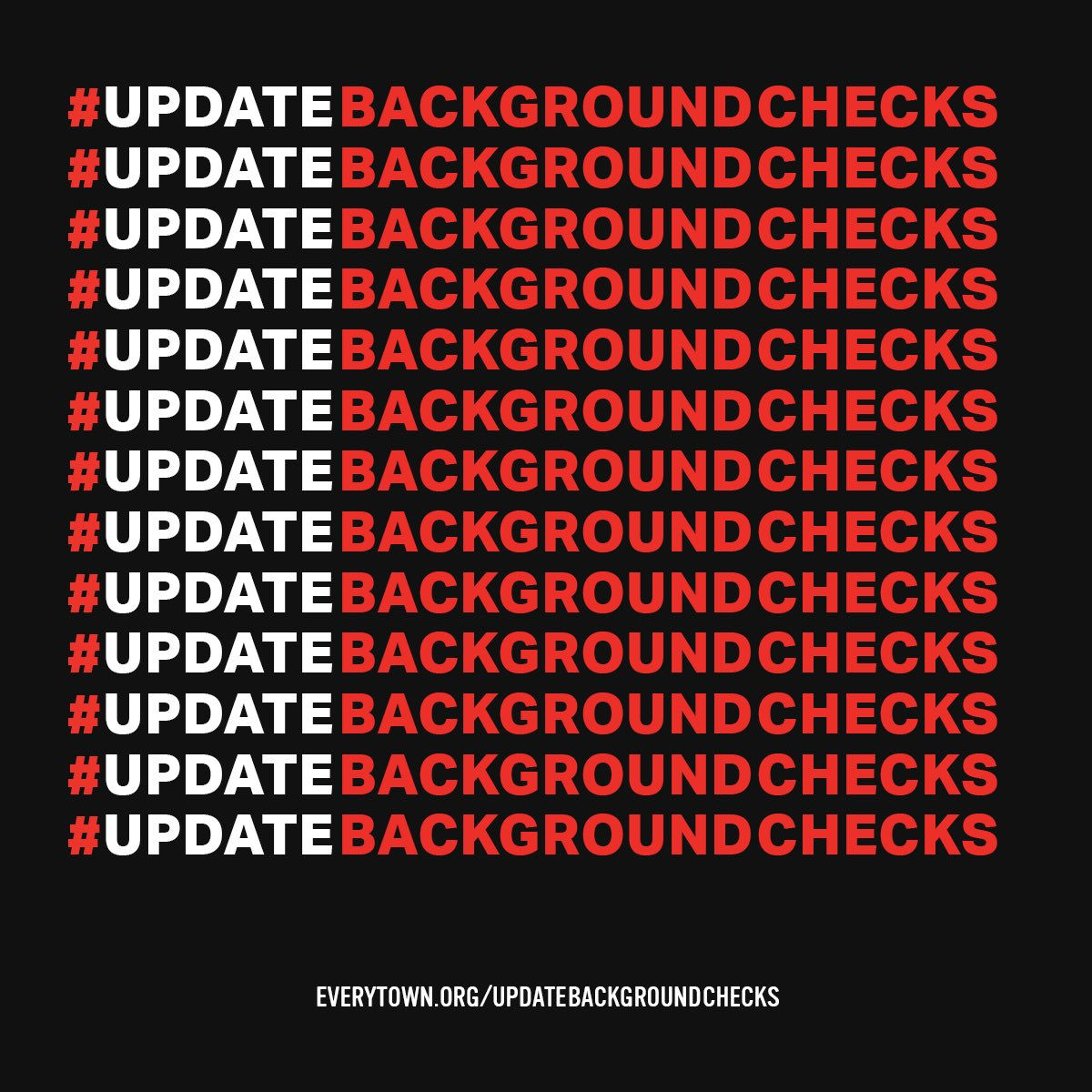 Today, nearly a quarter of Americans who obtain a firearm do so without a background check thanks to loopholes in our federal background checks system. That's why I'm asking my rep to #UpdateBackgroundChecks. Join me: https://t.co/XHL8bgR3XF
