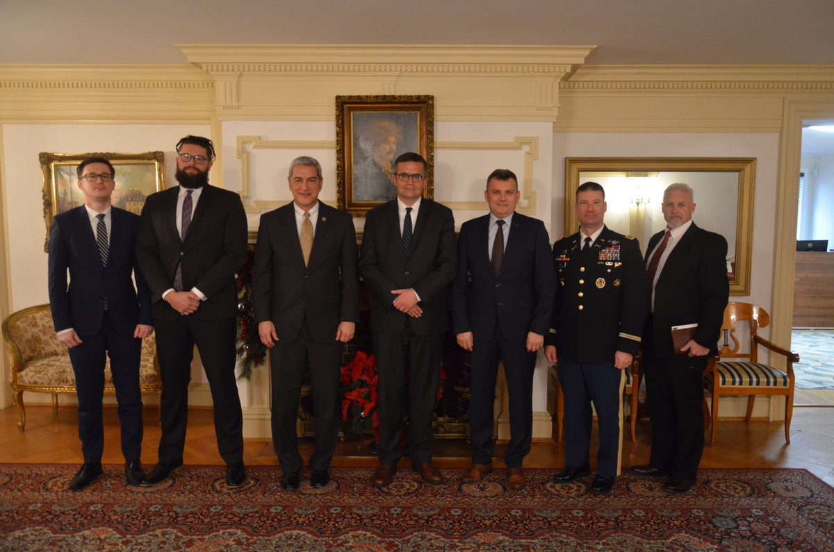 Today @AmbWilczek met with @dodpaa Director Kelly McKeague, who extended appreciation to the Polish government for its assistance on cases of US servicemen who went missing on Polish soil during World War II. #PLUS100Together