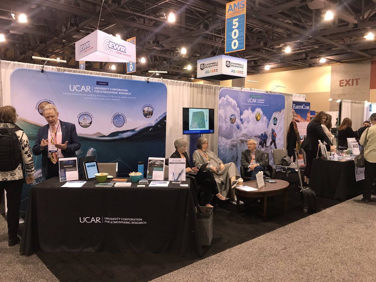 Make sure to visit the UCAR|NCAR|UCP alley at #AMS2019 to learn more about the science and communities we serve