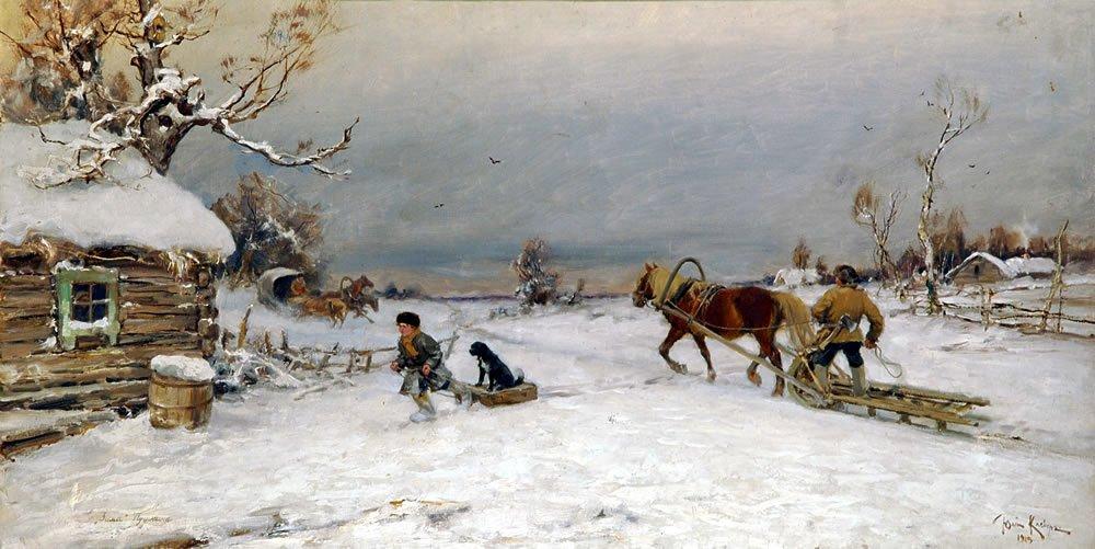 Картинка к стихотворению зима крестьянин торжествуя на дровнях обновляет путь