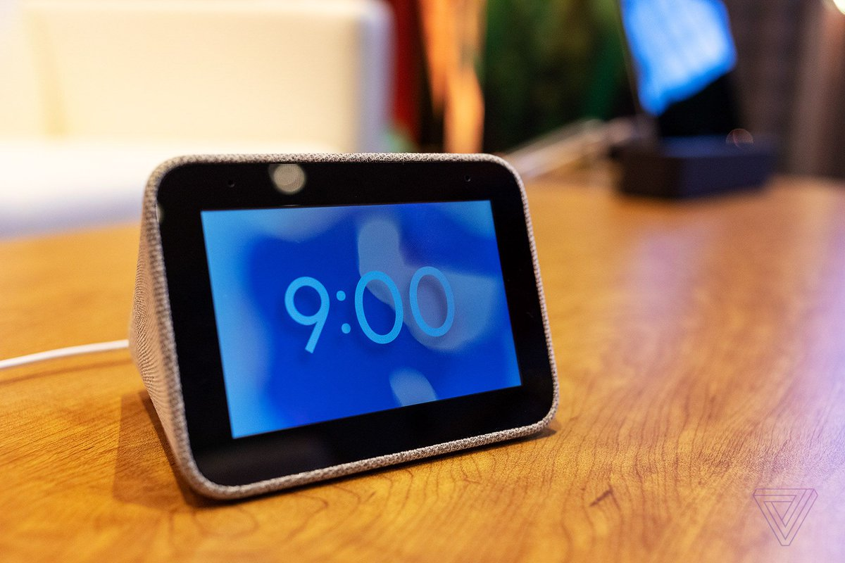 Lenovo made this tiny and adorable Google alarm clock that doubles as a smart speaker