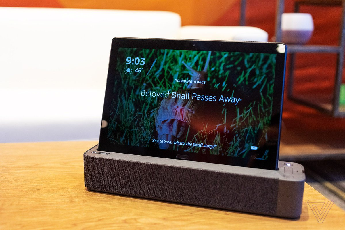 Lenovo made this wild Alexa-equipped Android tablet that docks into a smart speaker
