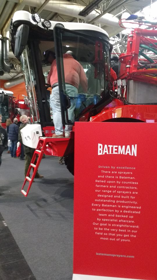 Great first day at @LAMMAShow! The move to an indoor central location has gone down really well with visitors, and the vibe today has been excellent 😀😀😀 #TeamBateman #CropSprayers #CropProtection
