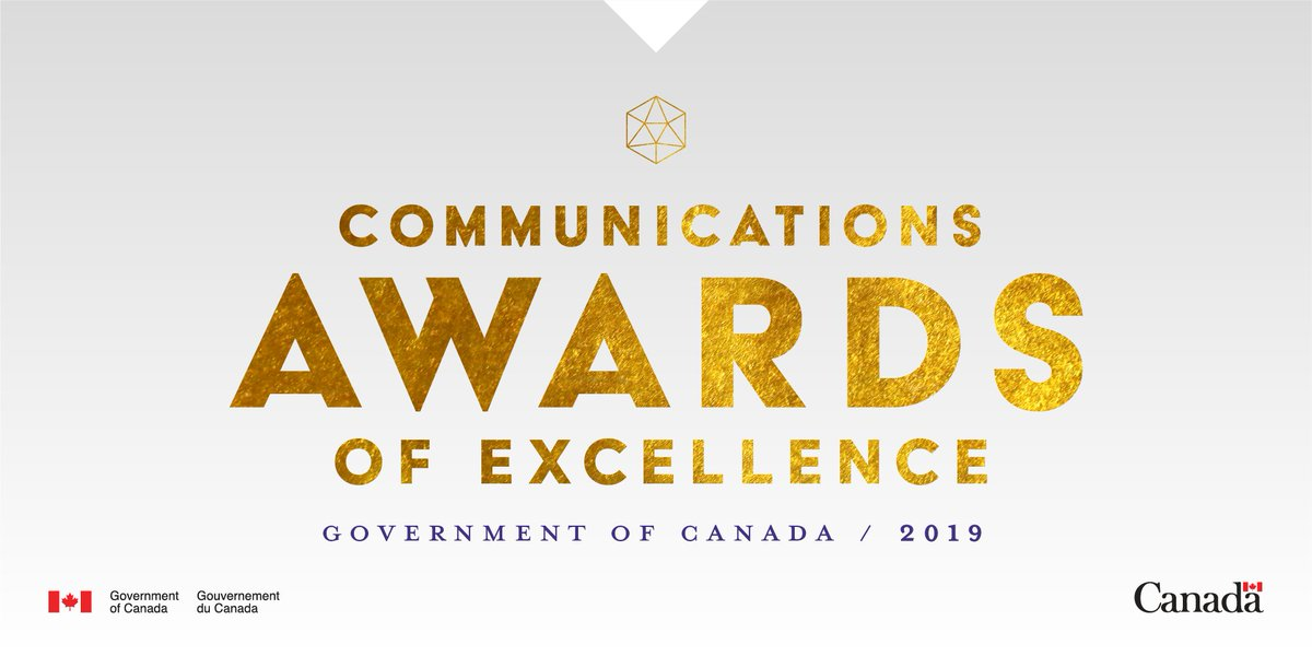 Big announcement! The #GoC will host the first ever Communications Awards of Excellence on February 13, 2019! Nominations are open until January 25. See all ten categories at http://bit.ly/2CX1eGS . #GCComms2019 #CommunicationsAwards