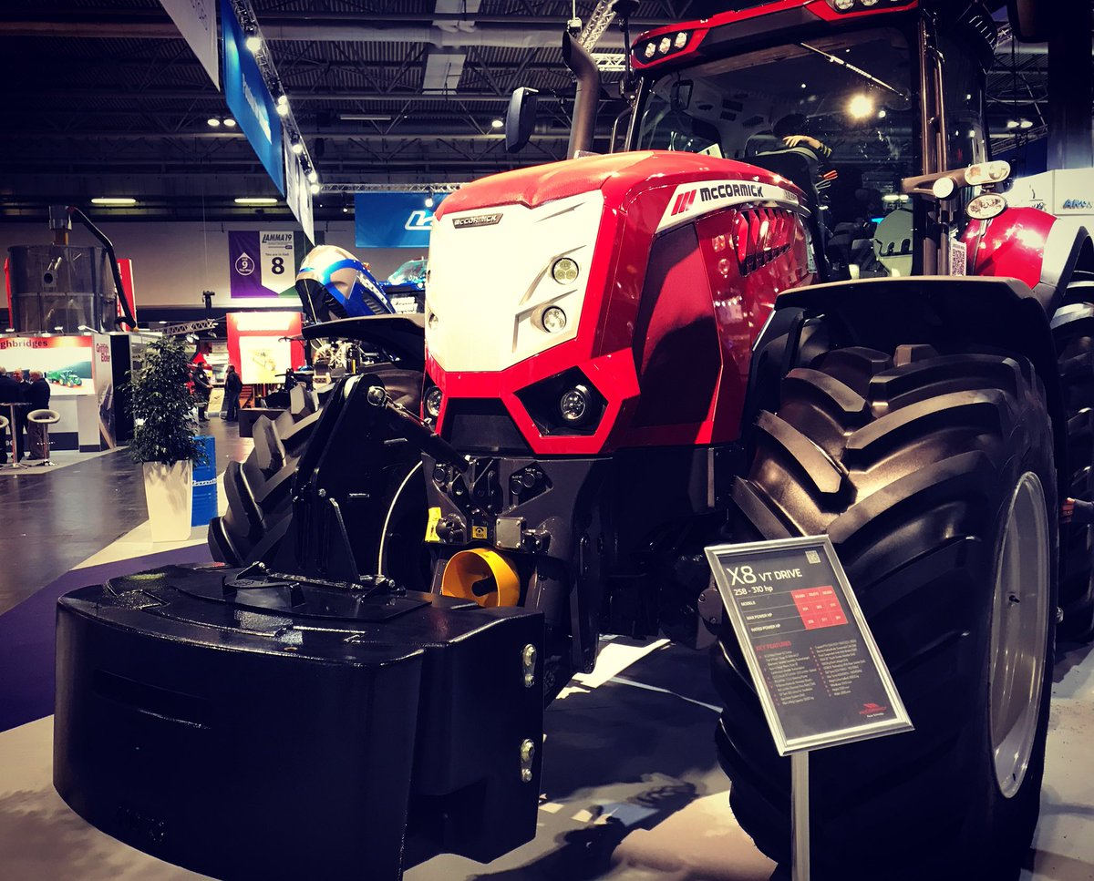 The fabulous X8 from #McCormickTractors on display at #LAMMA today.