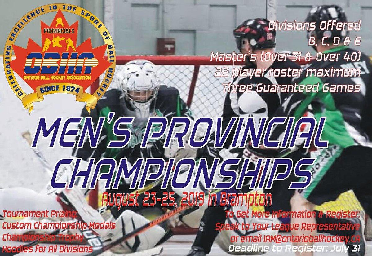 Ontario Ball Hockey On Twitter The 2019 Men S Provincial