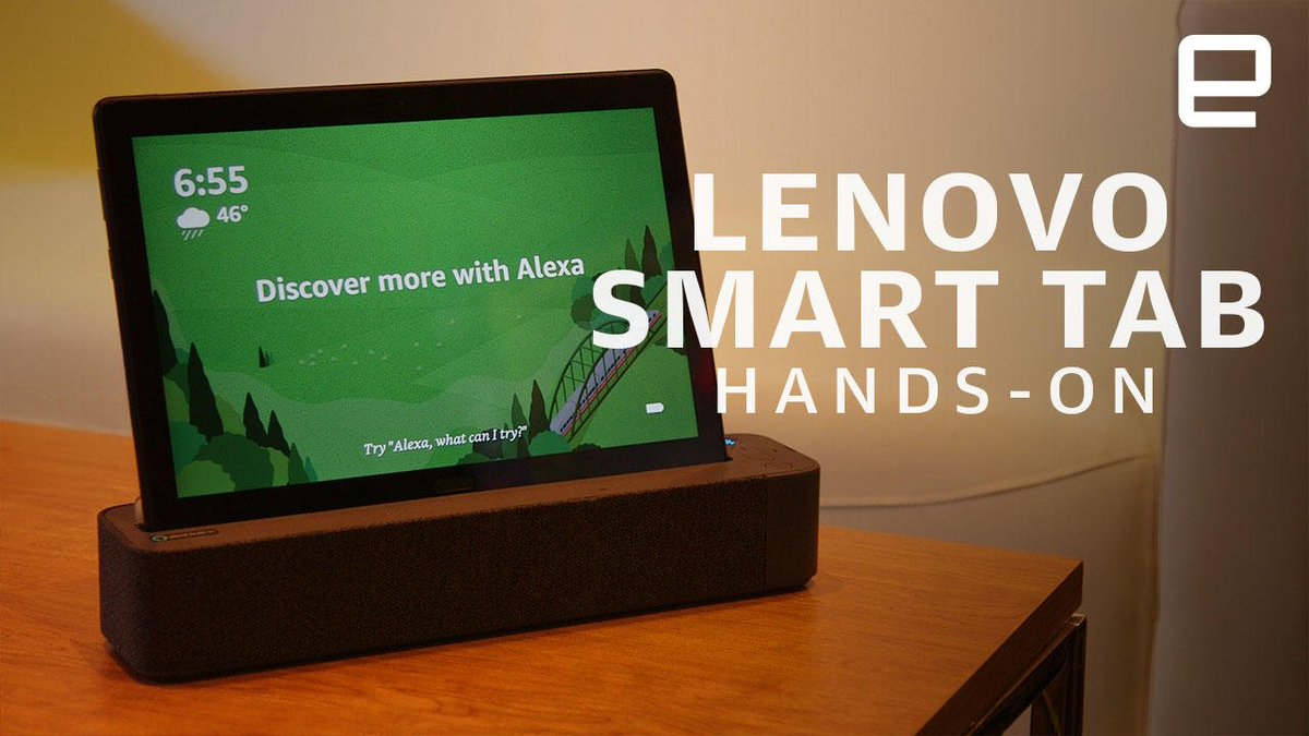 Lenovo Smart Tab Hands-On: Alexa Takes on a New Form