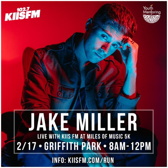 Los Angeles! I'm performing a few songs at Griffith Park with @1027KIISFM at @MilesOfMusic5k on 2/17! Get tickets or register to run at https://t.co/wy5rDXrrIv