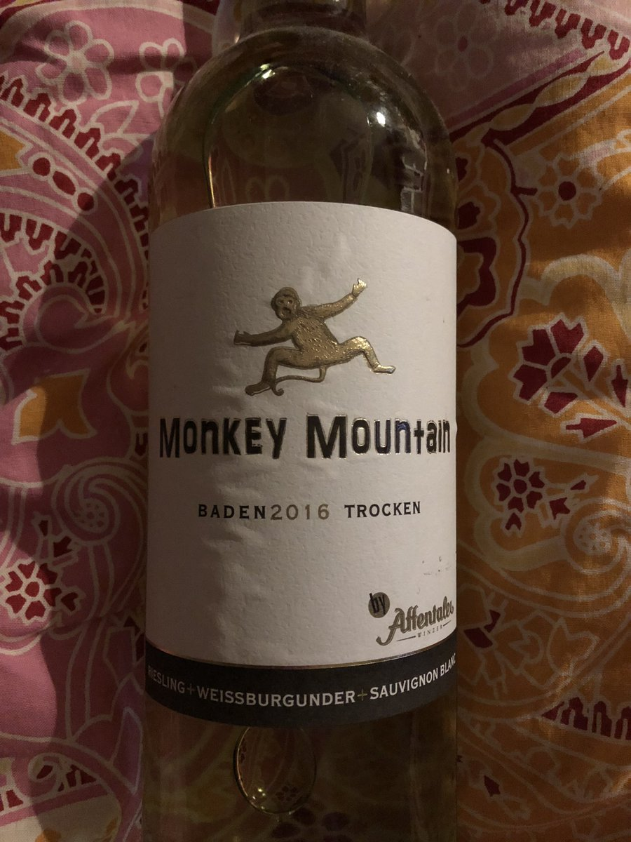 Tonight in my series of nerd wines: #monkeymountain. Drier than #twoearths and not as sweet as #mia