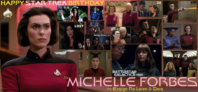 Happy birthday Michelle Forbes, born January 8, 1965.
