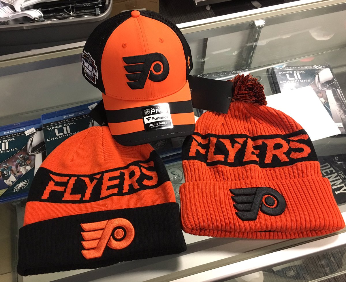 a75388558307a6 A couple fresh new knitted hats and a cap. In-store now and online soon.  #phillysports #stadiumseries #nhl #letsgoflyers #broadstreetbullies ...