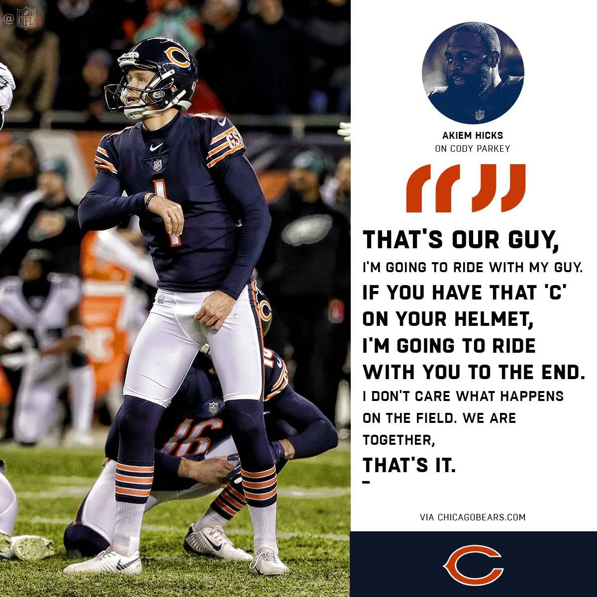 In good times and bad, teammates stick together. ��⬇️  #DaBears https://t.co/USg5Hx352a