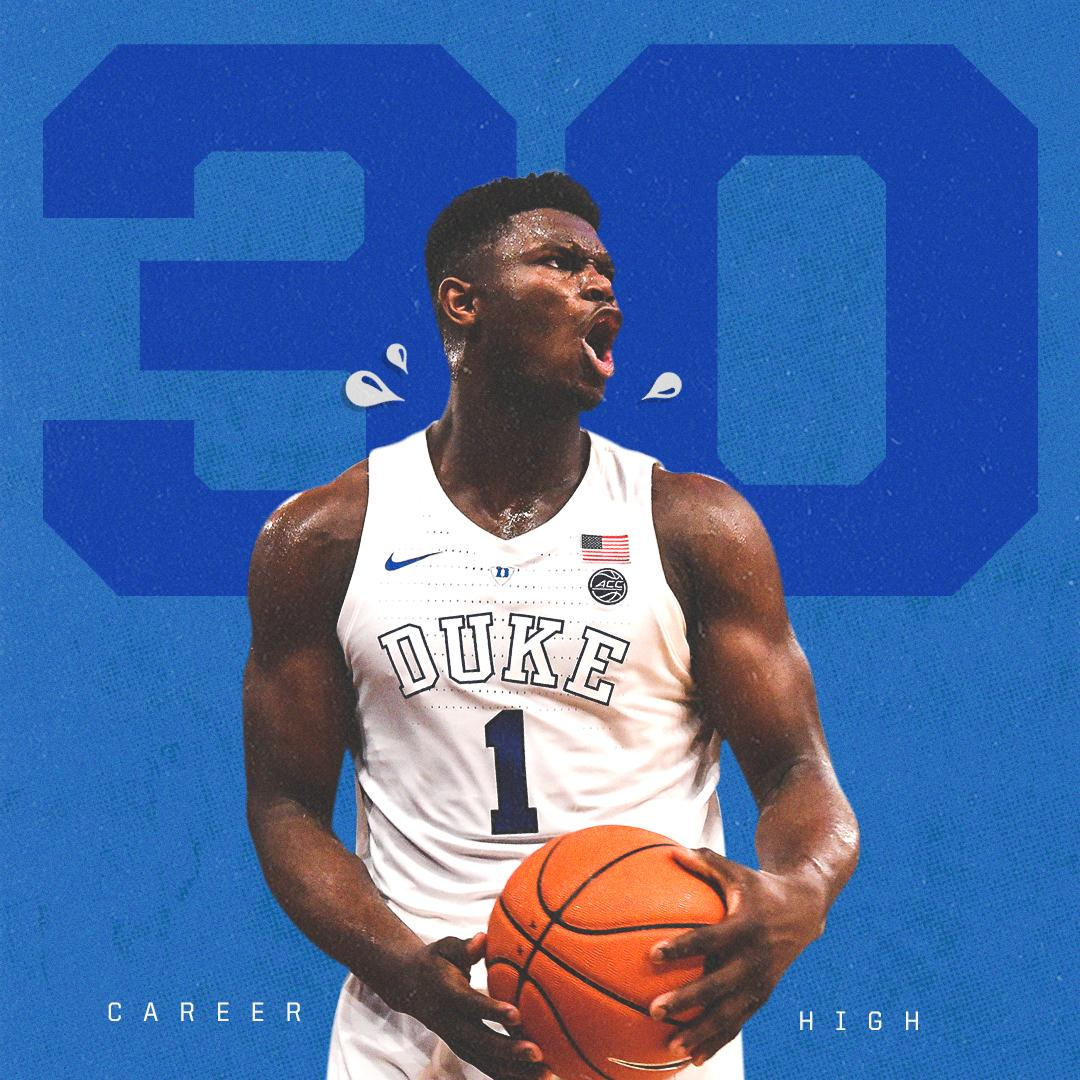 A NEW CAREER-HIGH!  Zion finished with 30 pts, 10 reb, 5 ast �� https://t.co/dWvhLXufpU
