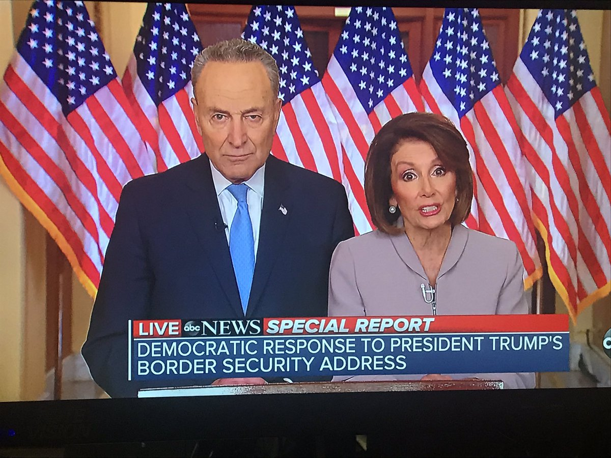 """The Democratic response:  """"President Trump has appealed to fear not facts; division, not unity."""""""